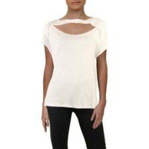 Free People June Cut Out Tee Top Pink XS